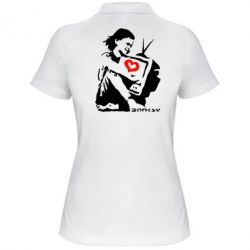 Женская футболка поло Bancsy TV