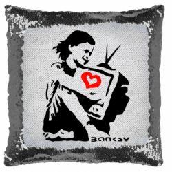 Подушка-хамелеон Bancsy TV