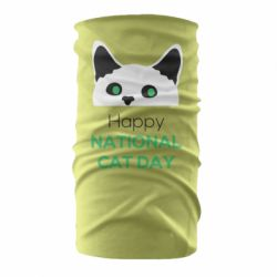 Бандана-труба Happy National Cat Day