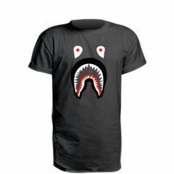 Удлиненная футболка Bape shark logo