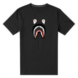 Мужская стрейчевая футболка Bape shark logo