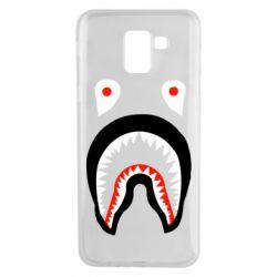 Чехол для Samsung J6 Bape shark logo