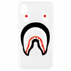 Чехол для iPhone XR Bape shark logo