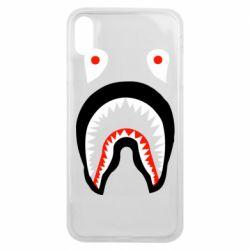 Чехол для iPhone Xs Max Bape shark logo