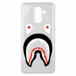 Чехол для Samsung J8 2018 Bape shark logo