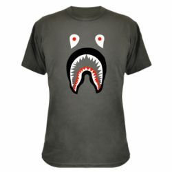 Камуфляжная футболка Bape shark logo