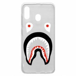Чехол для Samsung A20 Bape shark logo