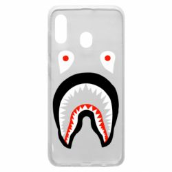 Чехол для Samsung A30 Bape shark logo