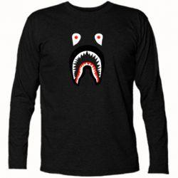 Футболка с длинным рукавом Bape shark logo