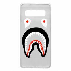 Чехол для Samsung S10 Bape shark logo