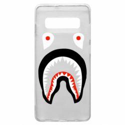 Чехол для Samsung S10+ Bape shark logo