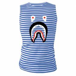 Майка-тельняшка Bape shark logo