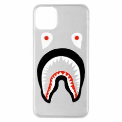 Чехол для iPhone 11 Pro Max Bape shark logo