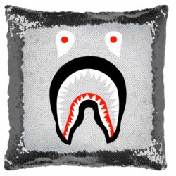 Подушка-хамелеон Bape shark logo