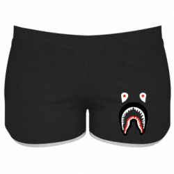 Женские шорты Bape shark logo