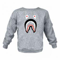 Детский реглан (свитшот) Bape shark logo