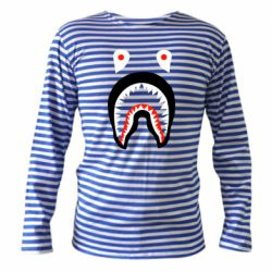 Тельняшка с длинным рукавом Bape shark logo