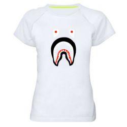 Женская спортивная футболка Bape shark logo