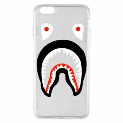 Чехол для iPhone 6 Plus/6S Plus Bape shark logo