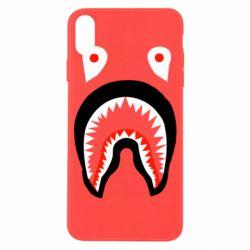 Чехол для iPhone X/Xs Bape shark logo