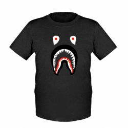 Детская футболка Bape shark logo