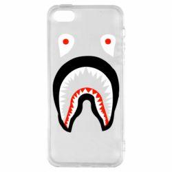 Чехол для iPhone5/5S/SE Bape shark logo