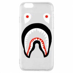 Чехол для iPhone 6/6S Bape shark logo