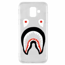 Чехол для Samsung A6 2018 Bape shark logo