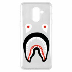 Чехол для Samsung A6+ 2018 Bape shark logo