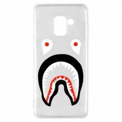 Чехол для Samsung A8 2018 Bape shark logo