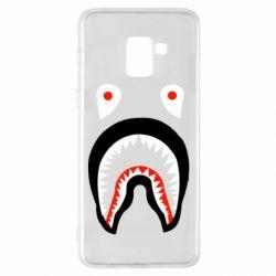Чехол для Samsung A8+ 2018 Bape shark logo