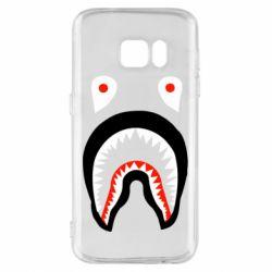 Чехол для Samsung S7 Bape shark logo