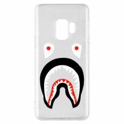 Чехол для Samsung S9 Bape shark logo