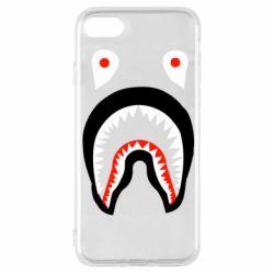 Чехол для iPhone 8 Bape shark logo