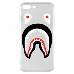 Чехол для iPhone 8 Plus Bape shark logo
