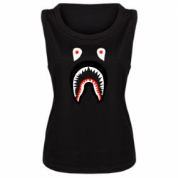 Женская майка Bape shark logo