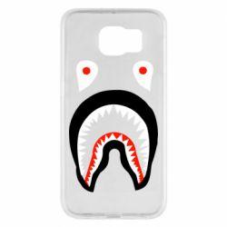 Чехол для Samsung S6 Bape shark logo