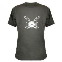 Камуфляжная футболка Барабанная установка - FatLine