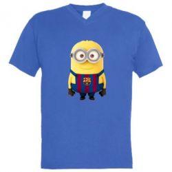 Мужская футболка  с V-образным вырезом Barca - FatLine