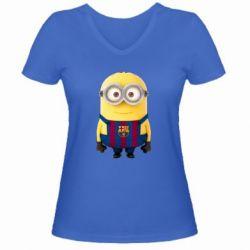 Женская футболка с V-образным вырезом Barca