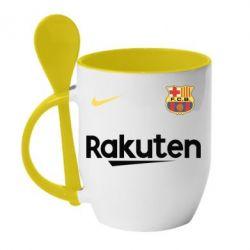 Кружка с керамической ложкой Barcelona Racuten