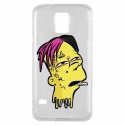 Чехол для Samsung S5 Bart as Lil Peep
