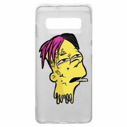 Чехол для Samsung S10+ Bart as Lil Peep