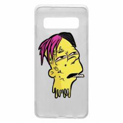 Чехол для Samsung S10 Bart as Lil Peep
