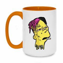Кружка двухцветная 420ml Bart as Lil Peep