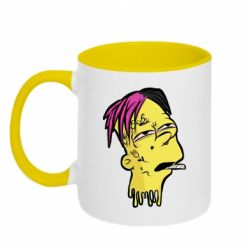 Кружка двухцветная 320ml Bart as Lil Peep
