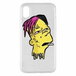 Чехол для iPhone X/Xs Bart as Lil Peep