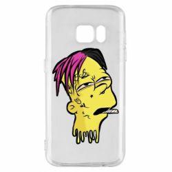 Чехол для Samsung S7 Bart as Lil Peep