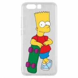 Чехол для Huawei P10 Bart Simpson - FatLine