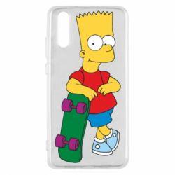 Чехол для Huawei P20 Bart Simpson - FatLine